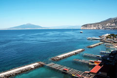 Landscape of Sorrento and its shore and port. Naples, italy Stock Images