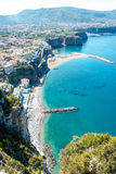 Landscape of Sorrento`s peninsula. And gulf, Naples, Italy Royalty Free Stock Photography