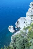 Landscape of Sorrento`s peninsula. And gulf, Naples, Italy Royalty Free Stock Photos