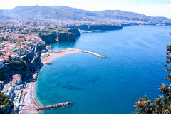 Landscape of Sorrento`s peninsula. And gulf, Naples, Italy Stock Photos