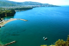 Landscape of Sorrento`s peninsula. And gulf, Naples, Italy Stock Photography
