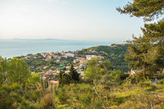 Landscape of Sorrento`s peninsula. And gulf, Naples, Italy Stock Images