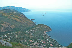 Landscape of Sorrento`s peninsula. And gulf, Naples, Italy Royalty Free Stock Image