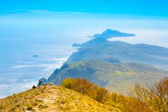 Landscape of Sorrento`s peninsula, Italy. Landscape of Sorrento`s peninsula from mount San Michele Molare, Italy Stock Photography