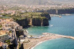 Landscape of Sorrento and sorrentina peninsula. In Camoania, Italy Royalty Free Stock Photos