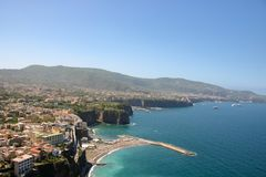 Landscape of Sorrento and sorrentina peninsula. In Camoania, Italy Royalty Free Stock Image