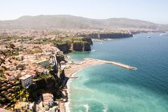 Landscape of Sorrento and sorrentina peninsula. In Camoania, Italy Stock Image