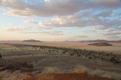Landscape in the Sossusvlei park, Namibia Royalty Free Stock Photo