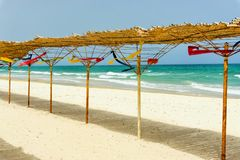 Landscape of Sousse Beach in Tunisia royalty free stock images