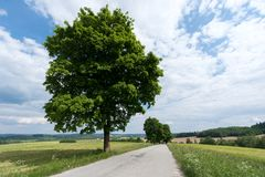 Landscape of South Bohemia. South Bohemian landscape in summer, Telč, South Bohemia, Czech Republic Royalty Free Stock Photography