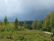 Landscape of South Bohemia before the storm. Czech Republic Stock Photos