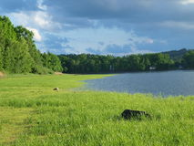 Landscape of South Bohemia before the storm. Czech Republic Royalty Free Stock Images