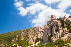 Landscape of South Corsica with rocky mountains Stock Image