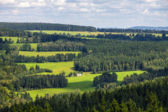 Landscape in the south of Czech Republic. Royalty Free Stock Photo