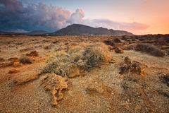 Landscape of south eastern Crete, Greece Royalty Free Stock Images