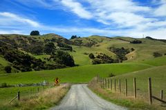 Landscape in South island in New Zealand Royalty Free Stock Photography