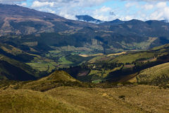 Landscape South of Quito, Ecuador Royalty Free Stock Photo
