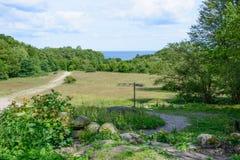 Landscape south Sweden stock photo