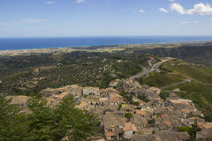 Landscape of Southern Italy, Calabria, Gerace Royalty Free Stock Photography