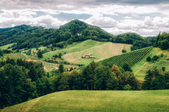 Landscape in Southern Styria Royalty Free Stock Photography
