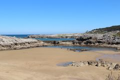 Landscape. Spain beach ocean sea landscape Royalty Free Stock Photography