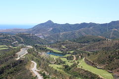 Landscape at Spain. Landscape with mountains at Spain royalty free stock images