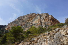 Landscape in Spain. Near Caminito Del Rey Royalty Free Stock Images
