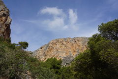 Landscape in Spain. Near Caminito Del Rey Royalty Free Stock Photo