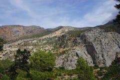 Landscape in Spain. Near Caminito Del Rey Stock Images