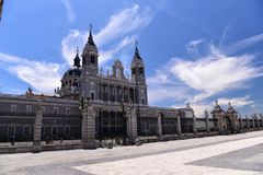Spain `s royal palace. Landscape of the spain palace Stock Photo