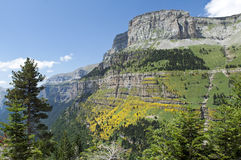 Landscape in the Spanish Pyrenees Stock Photography