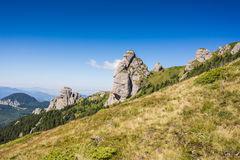 Landscape with spectacular rocks and mountain range 2 Royalty Free Stock Image