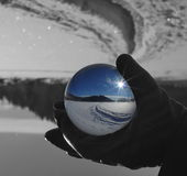 Landscape in sphere glass ball 2 Stock Image