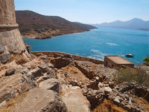 Landscape from Spinalonga Royalty Free Stock Photos