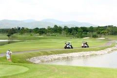 Landscape sport golf club. Outdoor activity Royalty Free Stock Photos