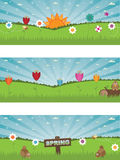 Landscape spring banners Stock Photography