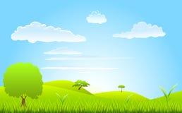 Landscape spring scene Stock Images