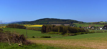 Landscape in spring south of Bohemia Royalty Free Stock Image