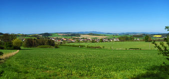 Landscape in spring south of Bohemia Stock Image