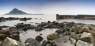 Landscape St Michael's Mount Cornwall England Stock Photo
