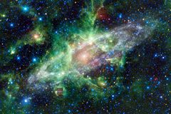 Landscape of star clusters. Beautiful image of space. Cosmos art. Elements of this image furnished by NASA stock photos