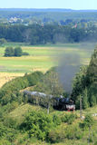 Landscape with a steam train Stock Photography