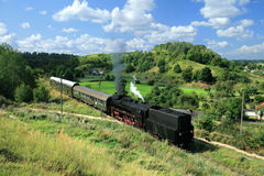 Landscape with a steam train royalty free stock images