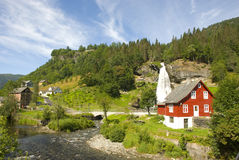 Landscape at Steindalsfossen, near Bergen - Norway Royalty Free Stock Photos