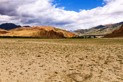 Landscape steppe mountains Royalty Free Stock Photos