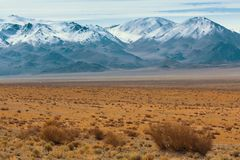 Landscape of the steppe and mountains in Western Mongolia. Travel. Landscape of the steppe and mountains in Western Mongolia Royalty Free Stock Images