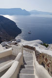 Landscape with steps in Oia Royalty Free Stock Photography