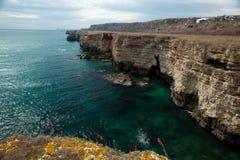 Landscape stone coast Stock Photography