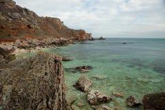 Landscape stone coast Stock Image
