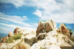 Landscape from stones lake Baikal Royalty Free Stock Photo